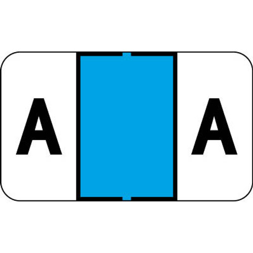 "Control-O Fax Alpha Label System - Letter 'A' - Blue - 15/16"" H x 1-5/8"" W -  Sheets for Ringbook - 225 Labels Per Pack"