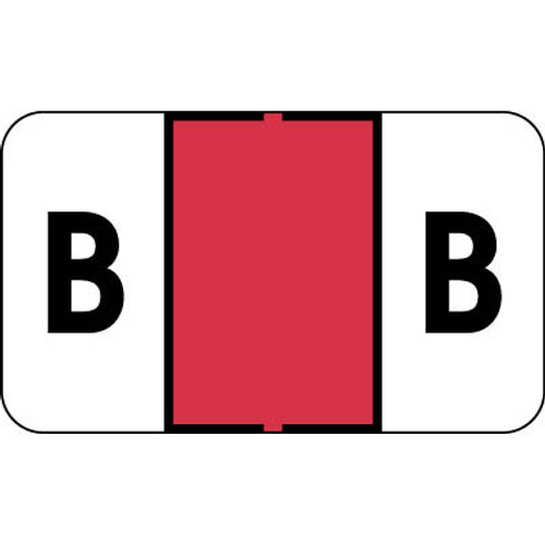"""Control-O Fax Alpha Label System - Letter 'B' - RED - 15/16"""" H x 1-5/8"""" W -  Sheets for Ringbook - 225 Labels Per Pack"""