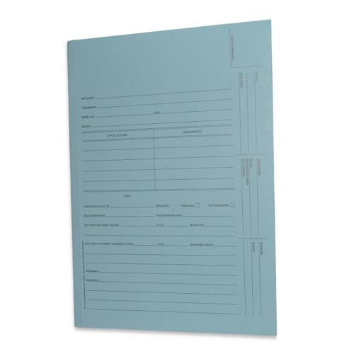 U.S. Trademark Application Folder, Redweld Intellectual Property Folder, Blue Color, 2 Leaf - Carton of 100