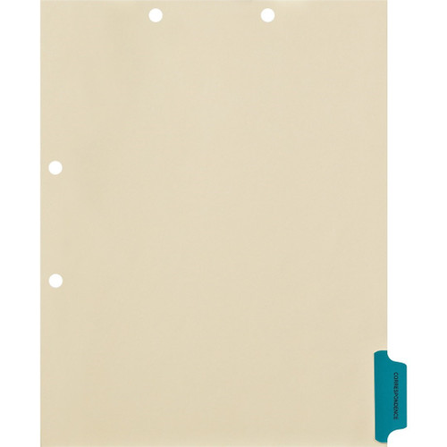 """Correspondence"" Side Tab Chart Dividers - Tab Position #6- Tab Color Blue (100/Pkg) (56789)"