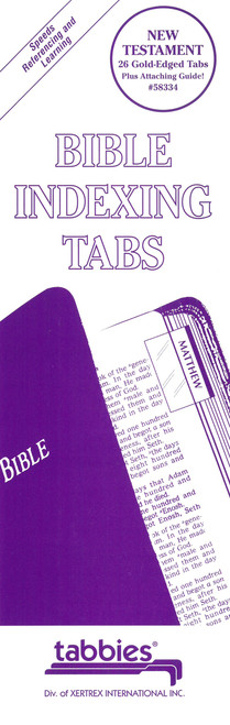 Tabbies 10 Packs of  Classic Bible Indexing Tabs  - New Testament only, 26 gold-edged tabs