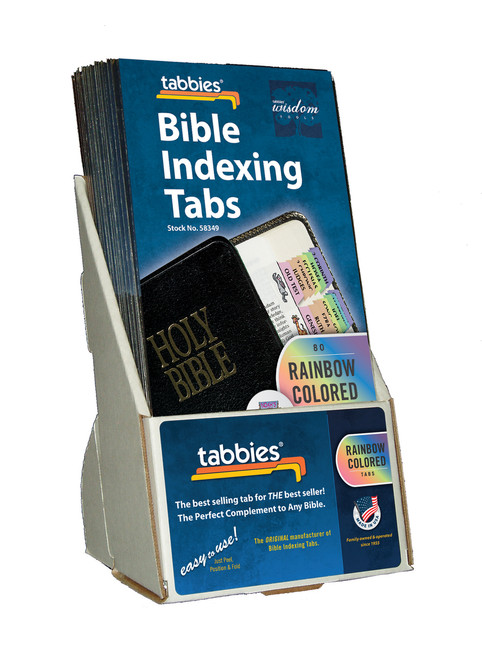 Tabbies  Displays - Bible indexing Tabs - noah's ark theme display, includes 20 pkgs. of 58349