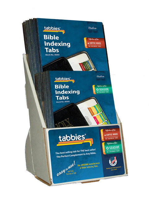 Tabbies  Displays - Bible indexing Tabs - reflections of you 2-tier display, assorted includes  10 pkgs. each of 58361, 58362