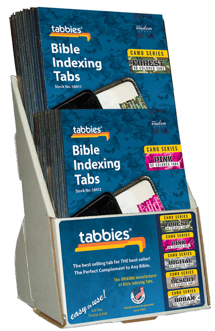 Tabbies  Displays - Bible indexing Tabs - camo series display 2-tier, holds 20 packages - EMPTY
