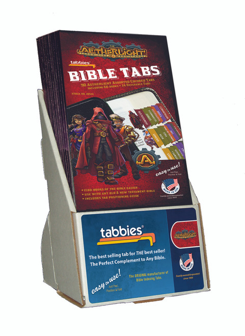 Tabbies  Displays - Bible indexing Tabs - Aetherlight® Bible indexing tabs, includes 20 pkgs. Of 28541