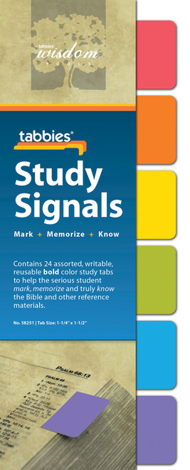 Tabbies 10 Packs of - Study Signals Bold, 24 tabs/pkg.