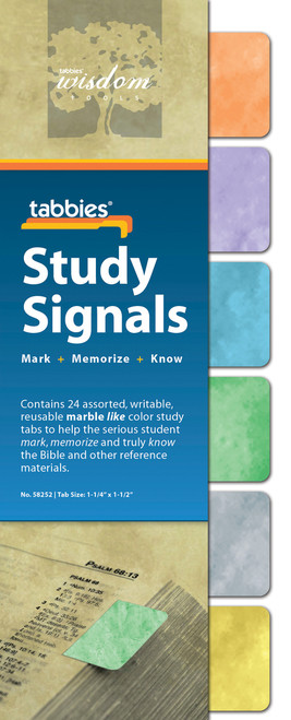 Tabbies 10 Packs of - Study Signals Marble-like, 24 tabs/Pkg.