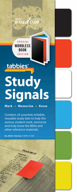 Tabbies 10 Packs of - Study Signals Wordless Book, 24 tabs/Pkg.