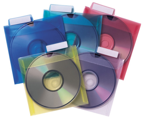 Tabbies 10 Packs of - CD Saver Sleeve Protectors (Assorted)