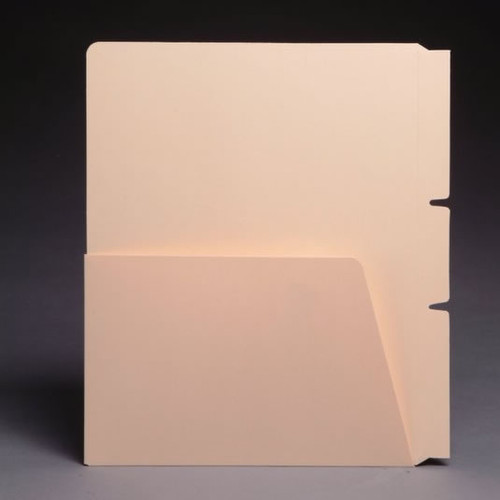 Self Adhesive Dividers - Side Hinge with 1/2 Pockets on both sides - 11 Pt Manila - Box of 100