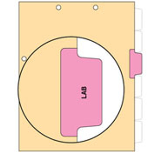 """Lab"" Side Tab Chart Dividers- Lab, Tab Position 3- Pink (100/Pkg)"