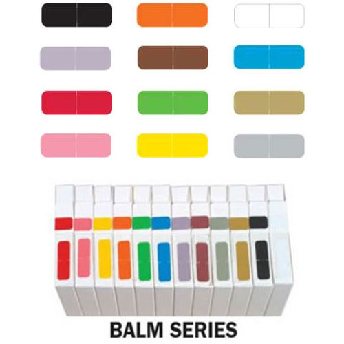 Barkley Systems Solid Color Label - FXBAM Match - BALM Series (Rolls of 500) - Complete Set of All Colors