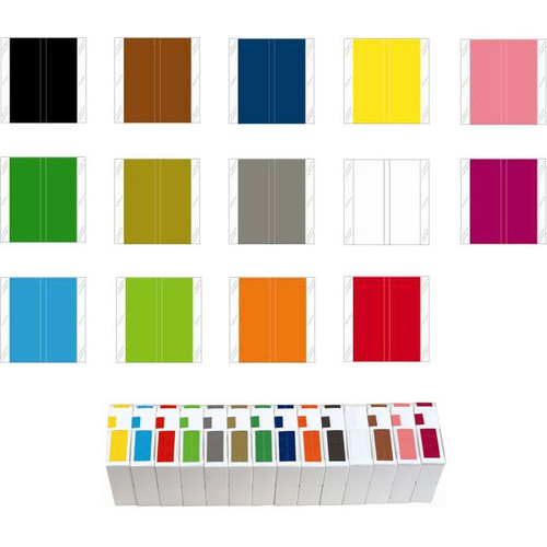 Tabbies Solid Color Label - 11600 Match - CLLM Series (Rolls of 500) - Complete Set of All Colors