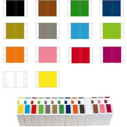Tabbies Solid Color Label - 11100 Series (Rolls) - Complete Set of All Colors