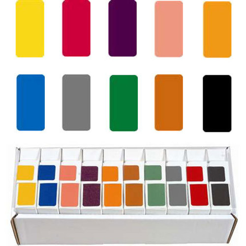 Smead Solid Color Label - CC Series (Rolls) - Orange - 250/Roll