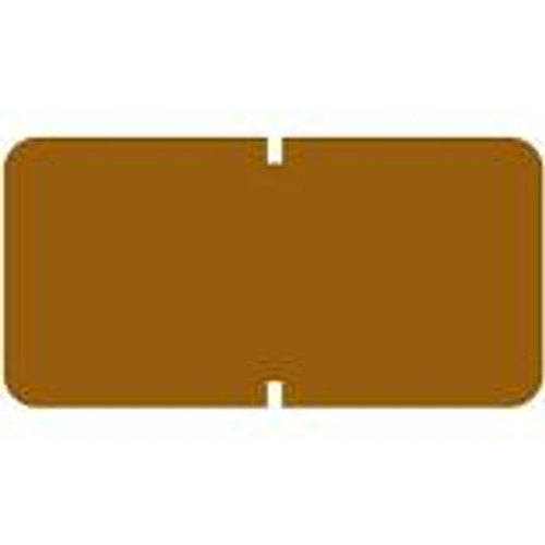 TAB Solid Color Label - 1281 Series (Rolls) - 1000/Roll - Brown