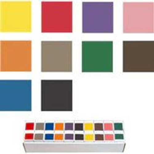 Ames Solid Color Label - L-A-00178 Series (Rolls) - Full Set with Tray
