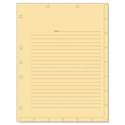 Tabbies Medical Chart Index Divider Sheets, 8-1/2 X 11, Manila, 400/box