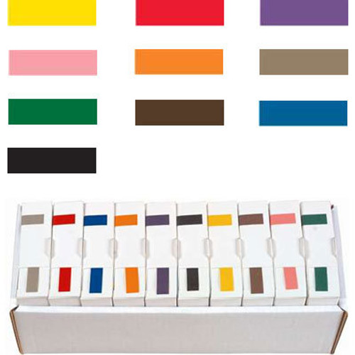 Ames Solid Color Label - L-A-00134 Series (Rolls) - Full Set with Tray