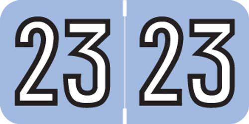 "Barkley Yearband Label - 2023 - Lavender/Blk - 3/4"" W x 1-1/2"" H - BKYM Series - Laminated - (Rolls) 500"
