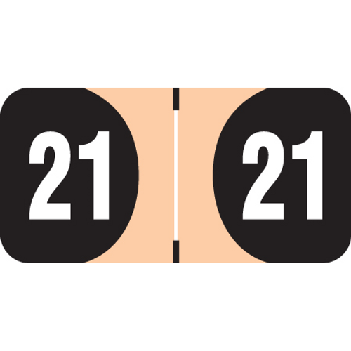 FilingSupplies.com Yearband Label (Rolls of 500) - 2021 - Tan - ADYM Series