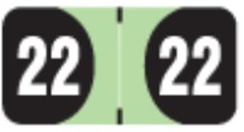 FilingSupplies.com Yearband Label (Rolls of 500) - 2022 - Lt. Green - ADYM Series
