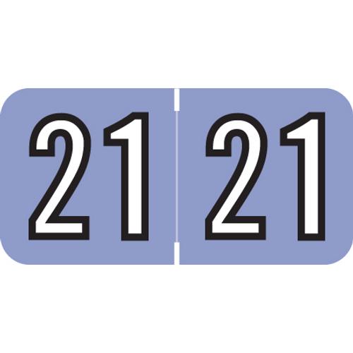 "Amerifile Yearband Label (Rolls of 500) - 2021- Raspberry - ARYM Series - Laminated -3/4"" H x 1-1/2"" W"