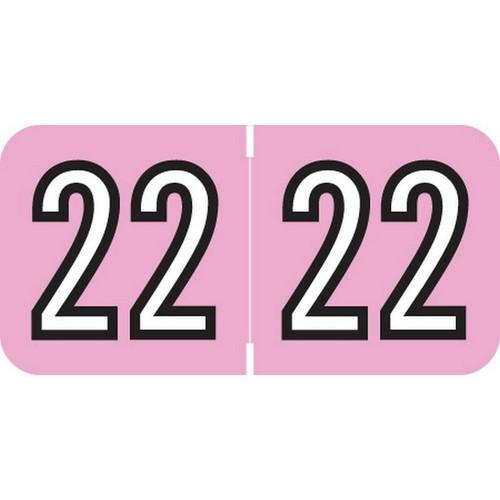 "Amerifile Yearband Label (Rolls of 500) - 2022- Pink - ARYM Series - Laminated -3/4"" H x 1-1/2"" W"