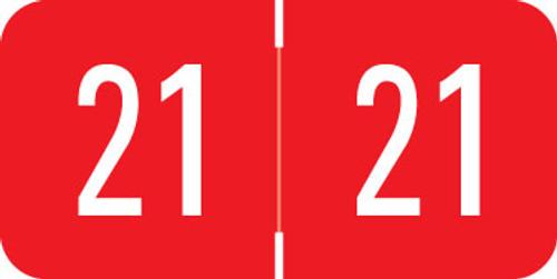 Digi Color 2021 RED YEAR LABEL -  DIGI Color DGYM Series - Laminated - 500/Roll