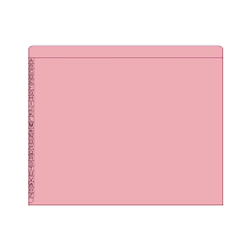 "End/Top Tab Alphabetic Kardex Folders - Letter Size - 11 Pt. Colored Stock - 3/4"" Expansion - Pink - 100/Box"