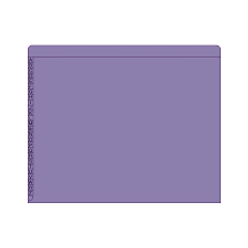 "End/Top Tab Alphabetic Kardex Folders - Letter Size - 11 Pt. Colored Stock - 3/4"" Expansion - Purple - 100/Box"