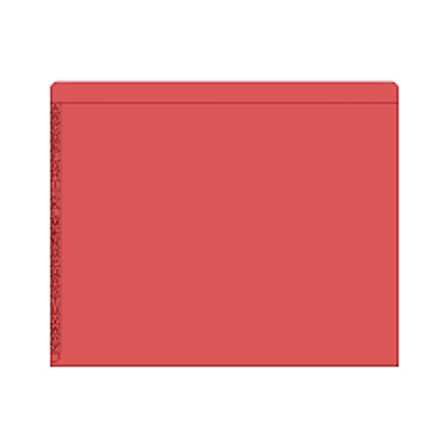 "End/Top Tab Alphabetic Kardex Folders - Letter Size - 11 Pt. Colored Stock - 3/4"" Expansion - Red - 100/Box"