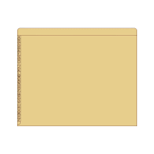 "End/Top Tab Alphabetic Kardex Folders - Letter Size - 11 Pt. Colored Stock - 3/4"" Expansion - Tan - 100/Box"