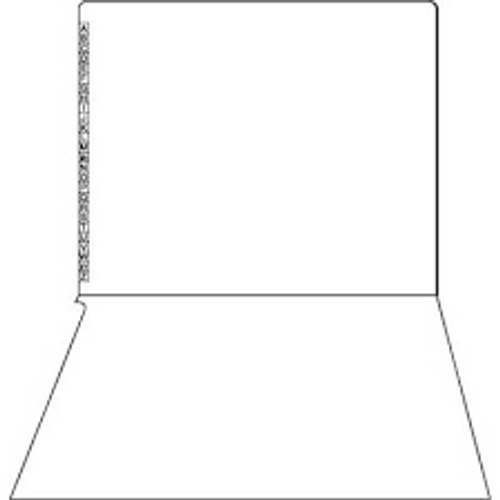 "End/Top Tab Alphabetic Kardex Folders - Letter Size - 11 Pt. Colored Stock - 3/4"" Expansion - White - 100/Box"