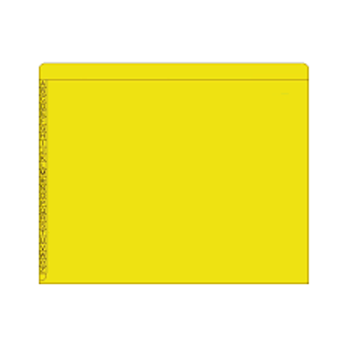 "End/Top Tab Alphabetic Kardex Folders - Letter Size - 11 Pt. Colored Stock - 3/4"" Expansion - Yellow - 100/Box"