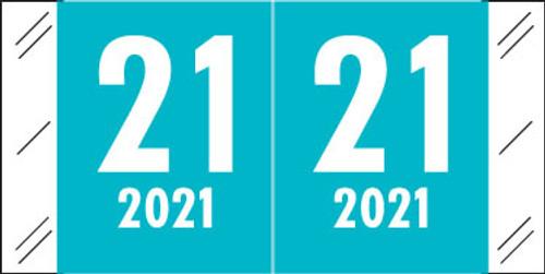 Col'R'Tab Yearband Label (Rolls of 500) - 2021 -Blue - CRYM Series - Laminated