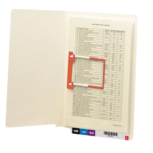 Smead End Tab Fastener File Folder, Shelf-Master Reinforced Straight-Cut Tab, 1 Fastener, Letter Size, Manila, 50 per Box (34112)