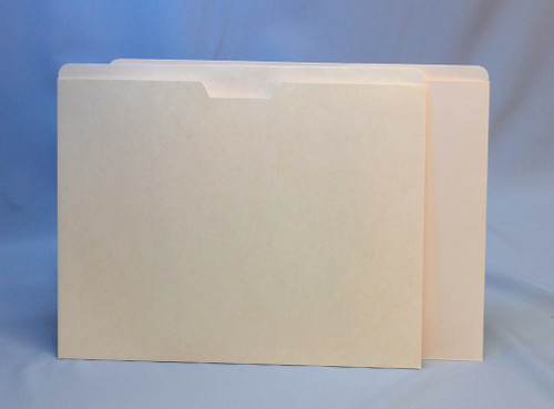 """GBS Manila Pocket Folders - Top Loading - 11 Pt. Manila - 12-1/4"""" W x 9-1/2"""" H - Printed Label Placement lines on back - 300/Carton"""