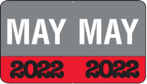 """Month/Year Labels 2022 - May - 225 Labels Per Pack - 1-1/2"""" W x 1"""" H"""