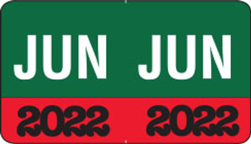 """Month/Year Labels 2022 - June - 225 Labels Per Pack - 1-1/2"""" W x 1"""" H"""