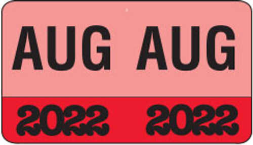 """Month/Year Labels 2022 - August - 225 Labels Per Pack - 1-1/2"""" W x 1"""" H"""