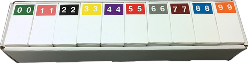 """S&W 1"""" Numeric - SKNM Series - 1H X 1 1/2W - 500/Roll - Full Set 0 - 9"""