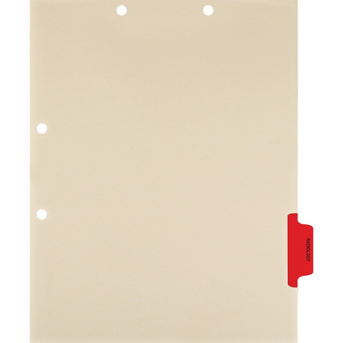 "Side Tab Chart Dividers - ""Radiology"" Tab Position 5 - Red (100/Pkg)"