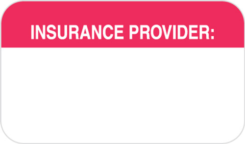 """Tabbies MAP1110-T4 - """"INSURANCE PROVIDER"""" -WHITE/RED - 1-1/2 X 7/8 - 250/BX"""