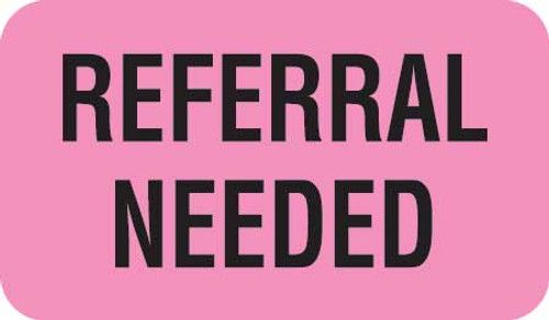"""REFERRAL NEEDED""- FL PINK/BK - 1-1/2 X 7/8 - 250/BX"