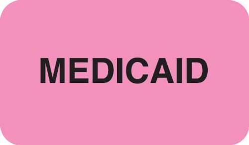 """MEDICAID""- FL PINK/BK - 1-1/2 X 7/8 - 250/BX"