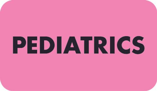"""PEDIATRICS""  - PINK/BK - 1-1/2 X 7/8  - 250/BX"