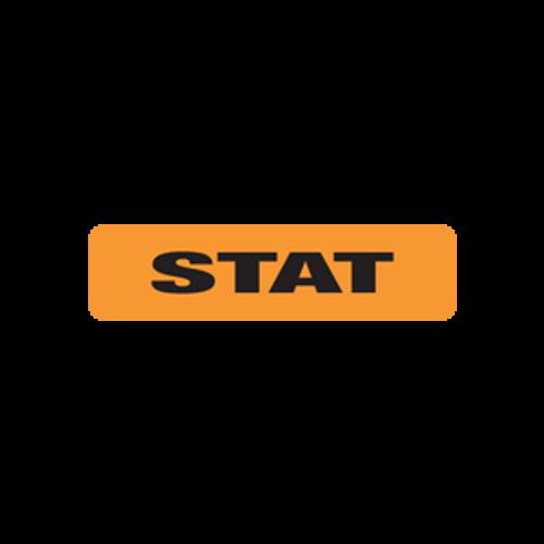 """STAT"" - FL.ORANGE/BLACK - 1-1/4 X 5/16 - 500/BX"