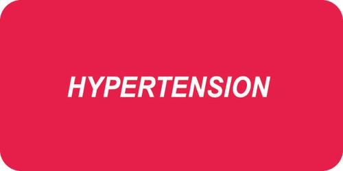 """""""HYPERTENSION"""" - RED/WHT - 2 X 1 - 252/PK"""