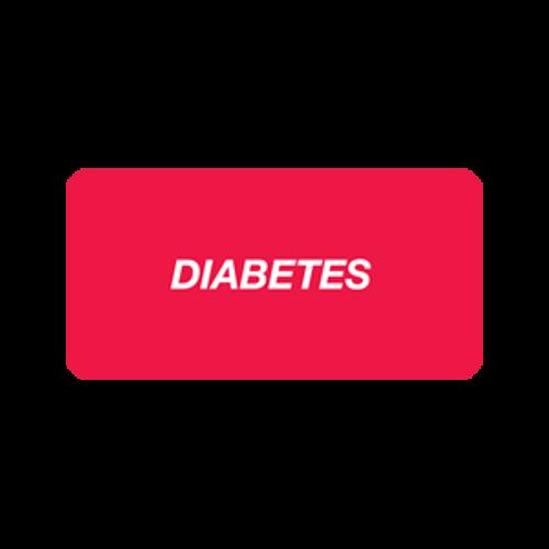 """""""DIABETES"""" - RED/WHITE - 2 X 1 - 252/PK"""